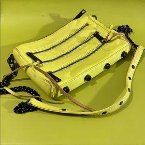 Rebecca Minkoff Mini5zip Neon Yellow Leather Bag